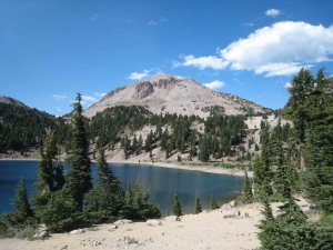 Lassen Peak from Lake Helen