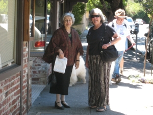 Two Elegant Ladies Walking in Mill Valley